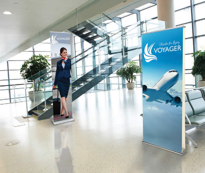 trade show display banner stands